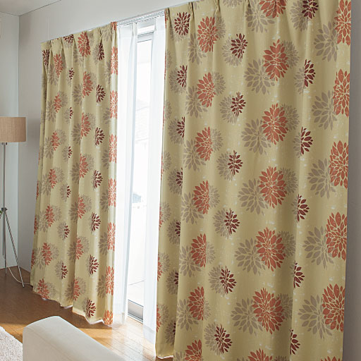 遮熱保温1級遮光3重カーテン(ダリア)の商品画像