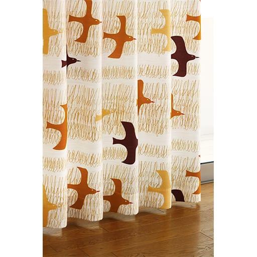 北欧プリントナチュラルカーテンの商品画像