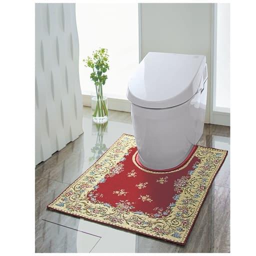 【イタリア製】トイレが華やぐシェニールトイレマットの写真