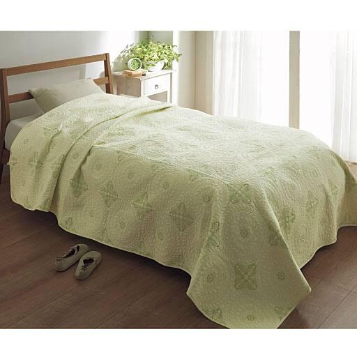 水洗い刺繍キルトコットンインテリアカバーシリーズ - セシール