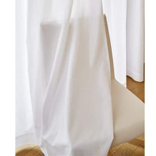 シンプルな無地調ミラーレースカーテンの小イメージ