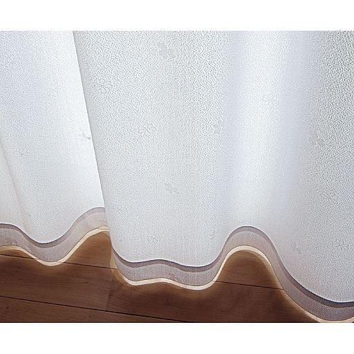 〔形状記憶付き〕UVカット遮熱ミラーレースカーテンの商品画像