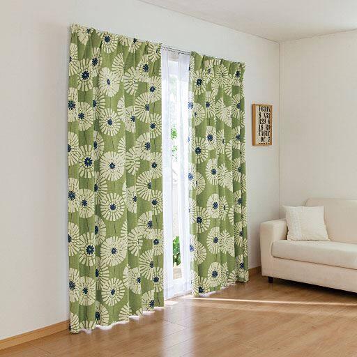 2級遮光プリントカーテン(もようの森)の写真