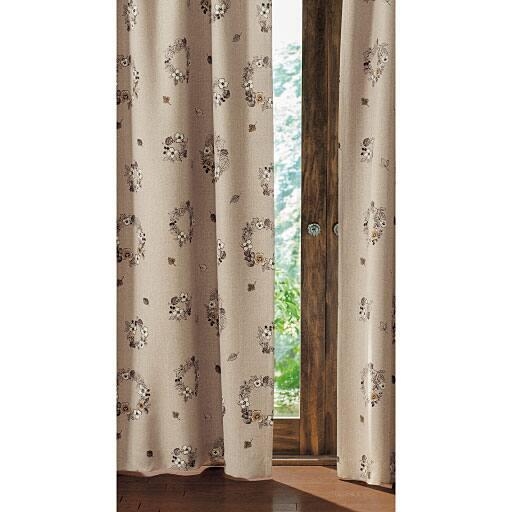 ナチュラルなお部屋に合う北欧風カーテン(2級遮光)の商品画像