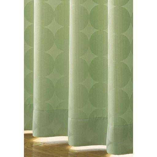 部屋に溶け込むサークル柄遮光ジャカード織りカーテン – セシール