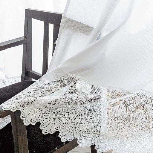 遮熱UVカットマクラメレースカーテン(防汚加工付)の小イメージ