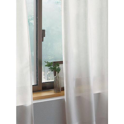 〔形状記憶付き〕抗菌防カビ・遮熱UVカットミラーレースカーテンの写真