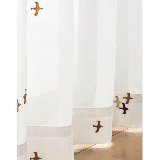 5つの柄から選べる刺繍ボイルカーテン(UVカット・遮熱)の商品画像