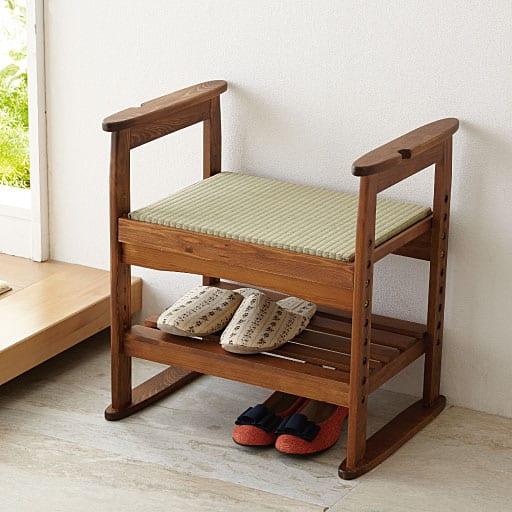 玄関ベンチ(い草畳を使った) - セシール