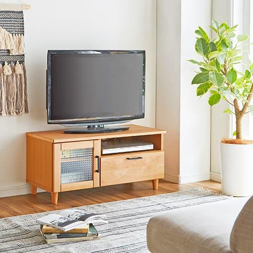 アルダー材仕上げのテレビ台 - セシール