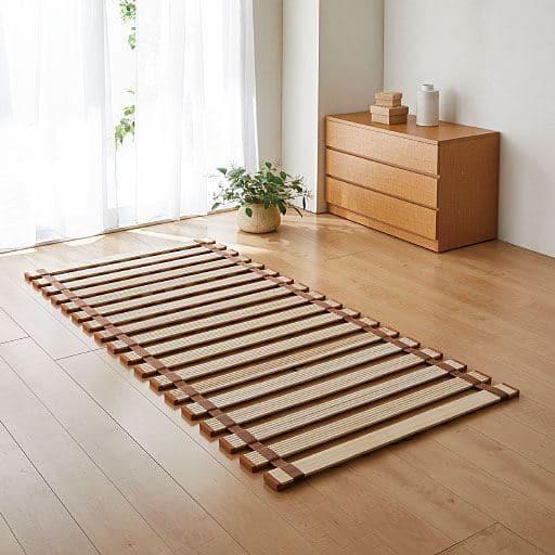 薄型軽量桐すのこベッド(ロール式) - セシール