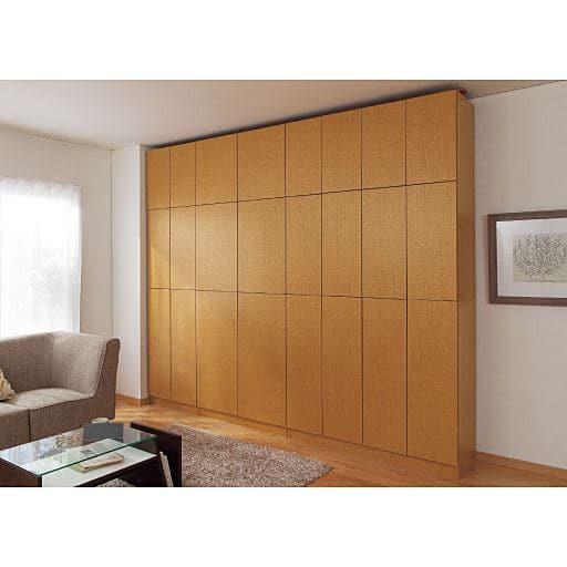 1cm単位で棚板の高さを変える頑丈壁面本棚の商品画像
