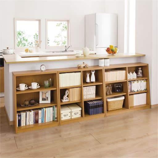 1cm単位で棚板の高さを変える頑丈壁面つっぱり本棚