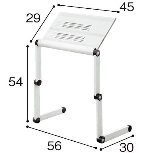 マウスも使えるフレキシブルパソコンテーブルの写真