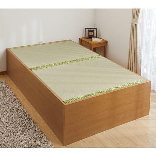 い草収納ベッドの写真