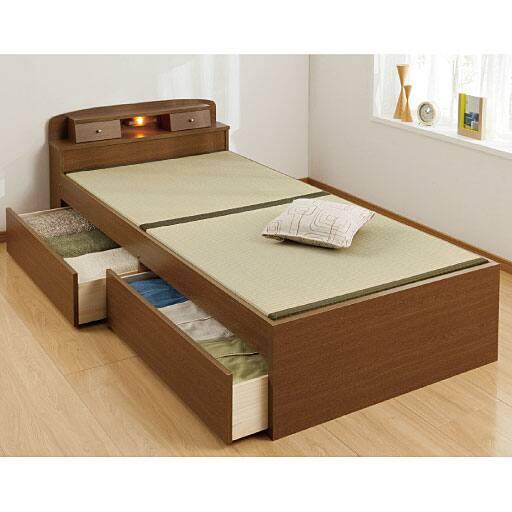 い草香る引き出し付き畳ベッドの商品画像