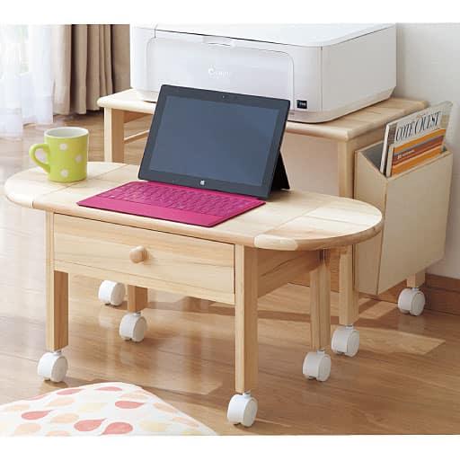 プリンターが置けるコンパクトパソコンテーブル – セシール