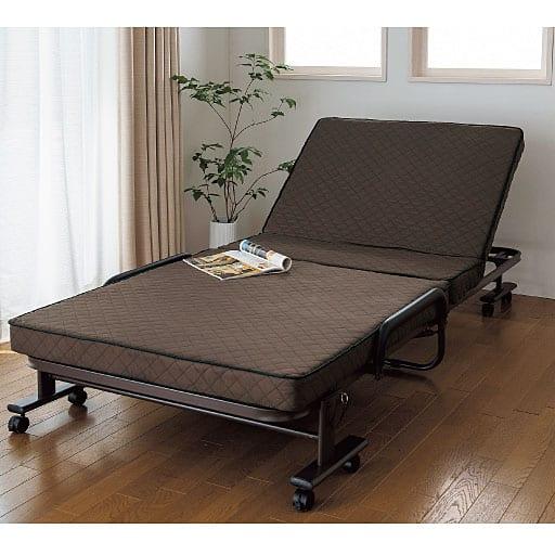 コンパクト折りたたみベッドの写真