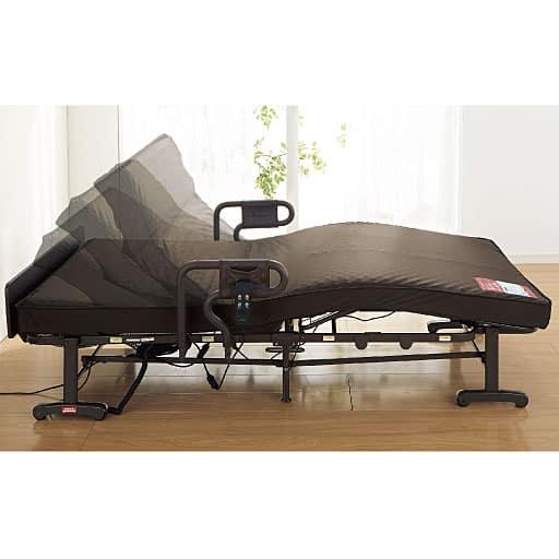ダブルファンクションの電動折りたたみベッドの写真