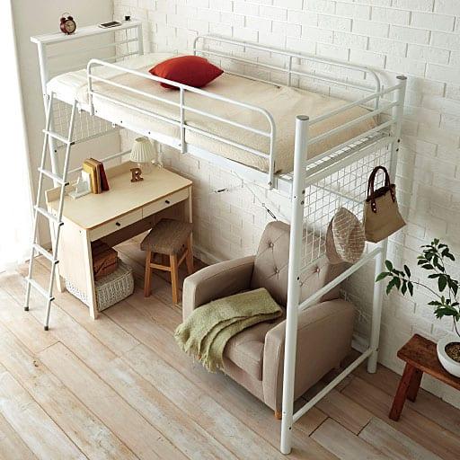 省スペース対応ハイタイプベッドの写真