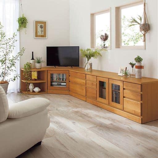 27サイズから選べる多サイズ天然木リビングボード - セシール