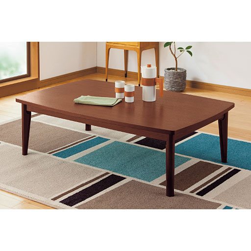 北欧風レトロこたつテーブルの写真