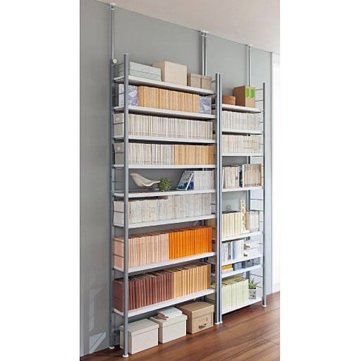 壁面突っ張り書棚ラック – セシール