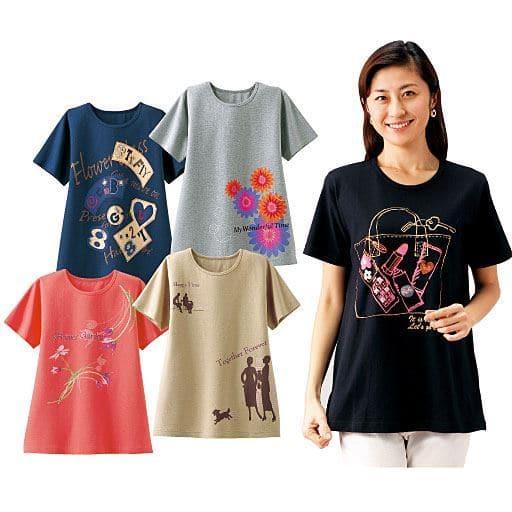 【レディース】 ゆったりビッグTシャツ(色柄違い5枚組)の通販