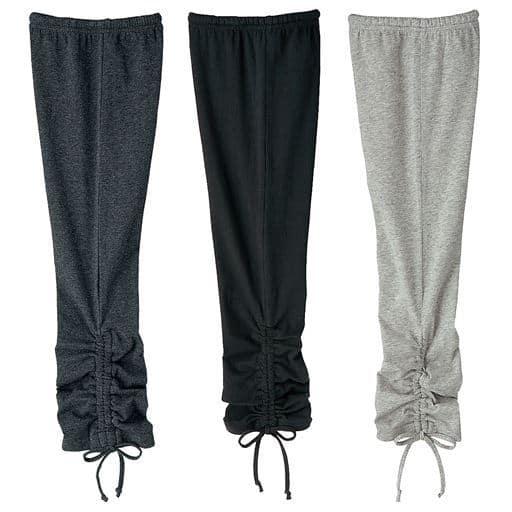 【レディース】 裾リボン使いスパッツ(色違い3枚組)
