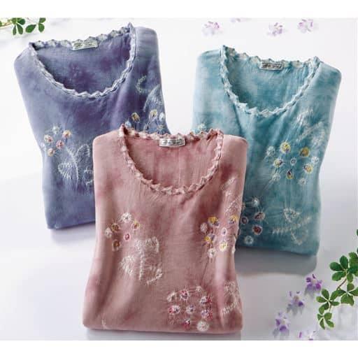 【レディース】 7分袖しぼり染めプルオーバー(色柄違い3枚組)の通販