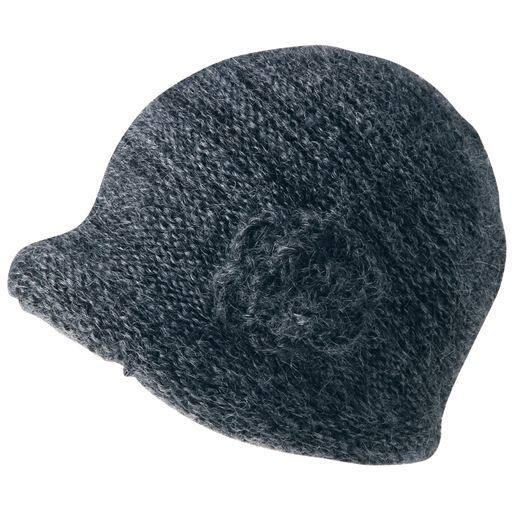 洗えるニット帽子(モチーフ付き) – セシール