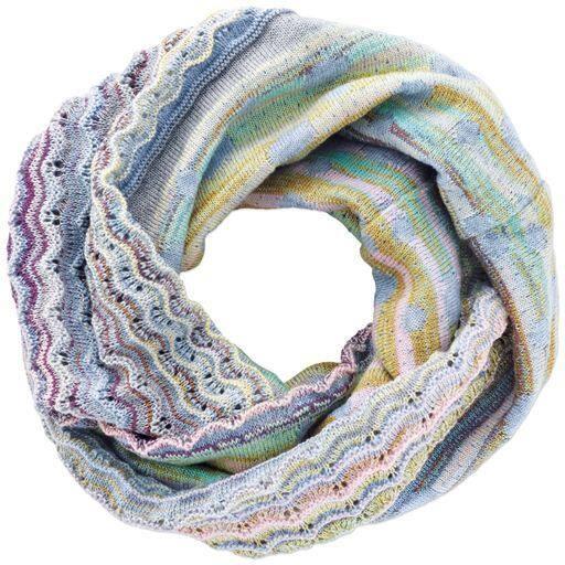 かすり使いあったか変化編みスヌード – セシール