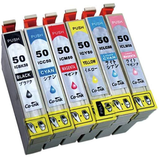 互換インク6色セット(エプソン用IC50シリーズ) – セシール