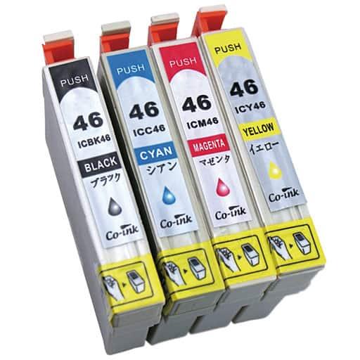 互換インク4色セット(エプソン用IC46シリーズ) – セシール