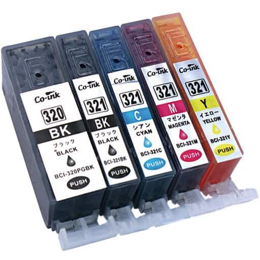 互換インク5種セット(キヤノン用BCI321+320) – セシール