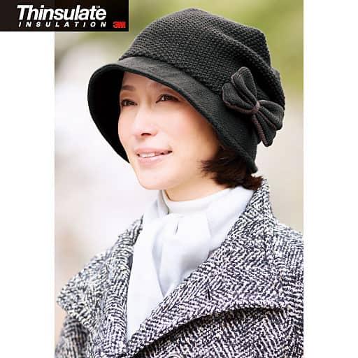 作家の髪型ふんわりニット帽子の通販
