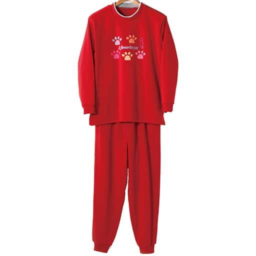 【レディース】 裏起毛パジャマ(上下セット)