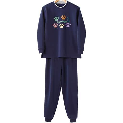 【レディース】 裏起毛パジャマ(上下セット)の通販