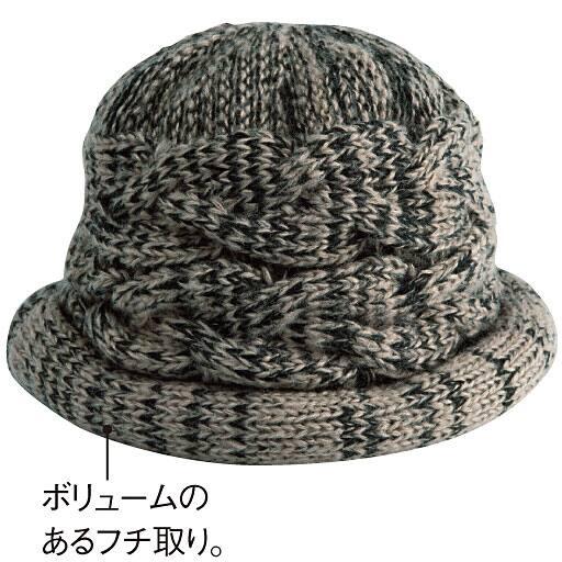 あったか小顔ふんわりニット帽 – セシール