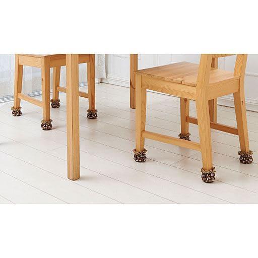 はずれにくい椅子足キャップ ドット花柄(8個入) – セシール
