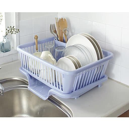 皿立て水切りかご(箸立て付き) – セシール