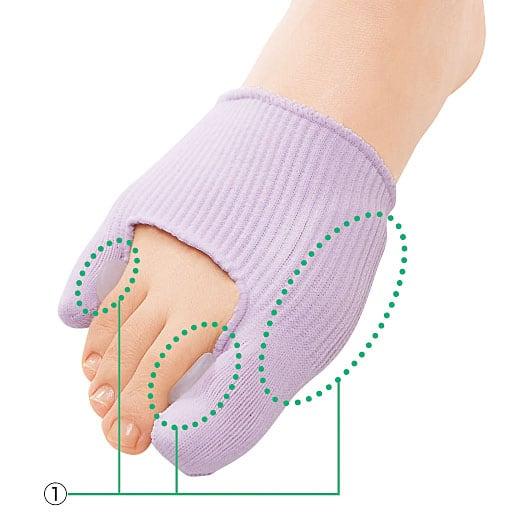 抗菌ゲルサポーター(外反母趾・内反小趾用) - セシール