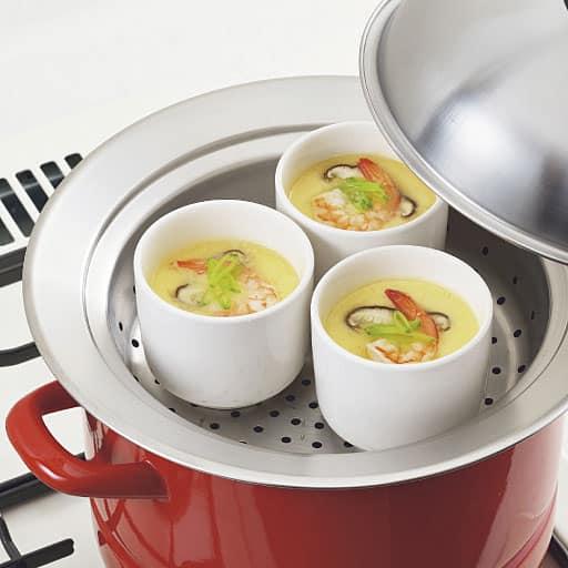 お鍋にのせて簡単蒸しプレート(ドーム型フタ付) – セシール