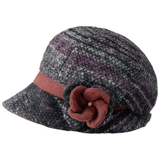 お洒落な毛糸のあったか帽子 – セシール