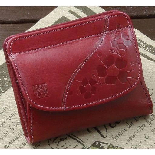 野村修平こだわりの革財布「花凛」二つ折れ財布