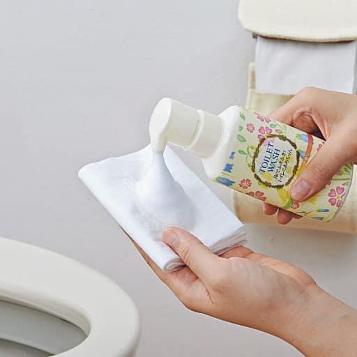 トイレットペーパーで掃除できる洗剤 – セシール
