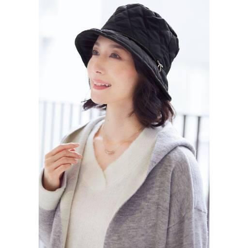 髪型ふんわりはっ水キルト帽子 – セシール