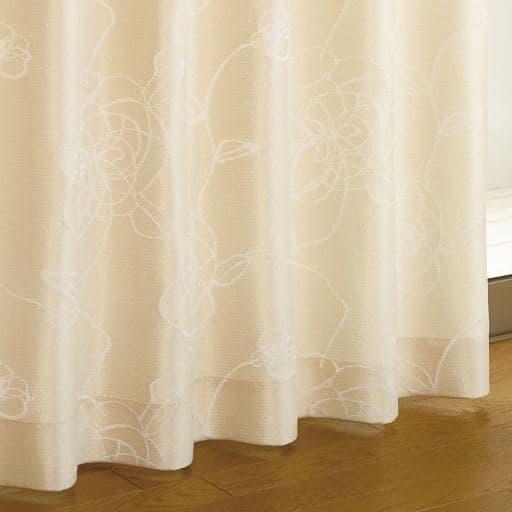ラメ入りジャカード織りカーテンと題した写真