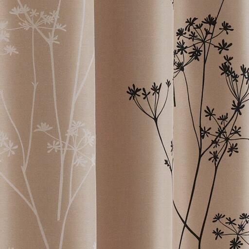 リーフ柄遮光プリントカーテンと題した写真