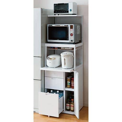 引き出し付きキッチン家電ラック – セシール
